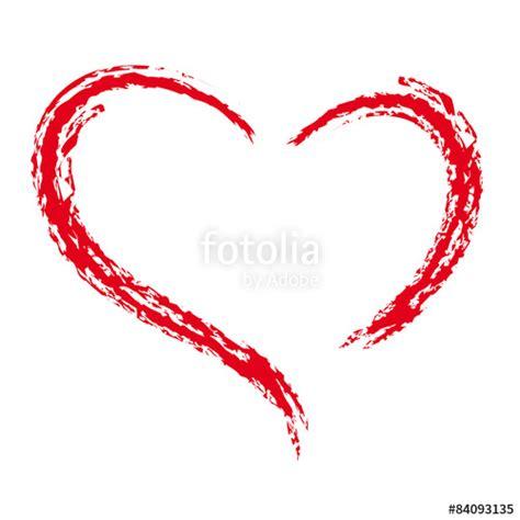 i herz organisieren quot gemaltes rotes herz symbol der liebe und treue