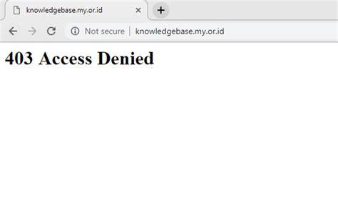 mengatasi error  access denied  website