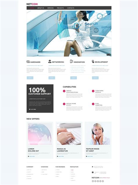 Communications Moto Cms Html Template 51947 Cms Communication Plan Template