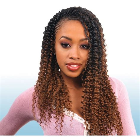 Hairstyles For 50 With Hair Styles Front N Back Look by Freetress Braids Water Wave 22 Quot Braided Weave
