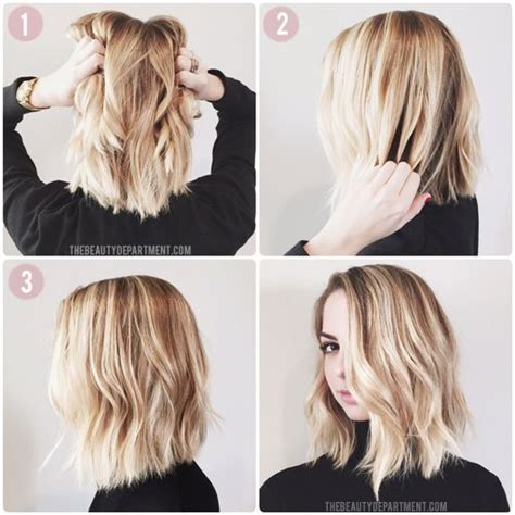 tutorial wavy lob kristin ess lob the beauty department hair pinterest
