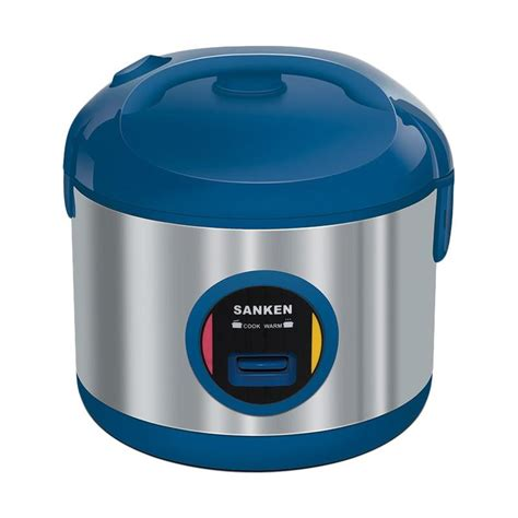 Rice Cooker Mini Sanken jual sanken sj120m rice cooker biru 1 liter