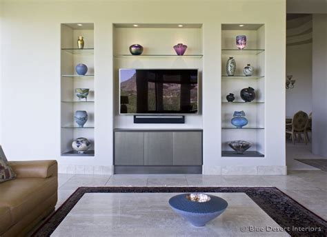 modern custom home entertainment center drywall lacquer