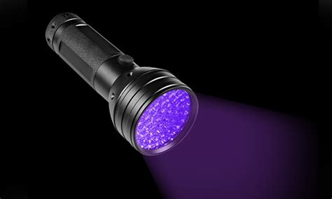 Black Light Flashlight by 57 On 51 Led Black Light Flashlight Groupon Goods