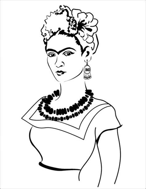 frida kahlo coloring pages sketch coloring page