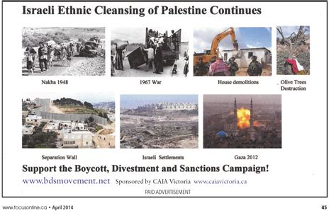 the ethnic cleansing of palestine books focus magazine gives a platfom to the ethnic cleansing