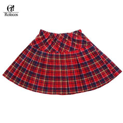 popular pleated plaid skirt buy cheap pleated plaid skirt lots from china pleated
