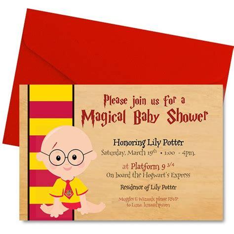 Harry Potter Baby Shower Theme harry potter baby shower invitation harry potter shower