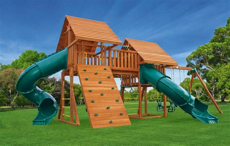 jungle gym backyard fantasy 6 wooden playset
