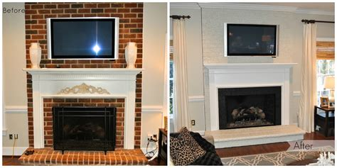 Before And After Brick Fireplace by Painted Brick Fireplace Before After Paint The Brick