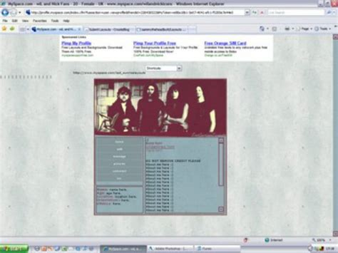 Myspace Search For Without Logging In Metallica Ie Myspace Layouts Createblog