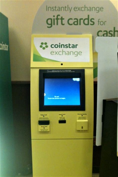 turn gift cards into cash with coinstar exchange kiosks eighty mph mom oregon mom - Coinstar Gift Card Kiosk