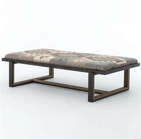 upholstered coffee table bench coffee table design ideas