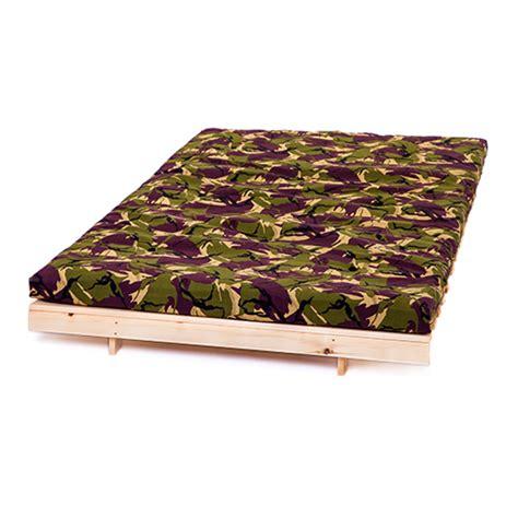 Camo Mattress by Jungle Camouflage 4ft 125cm Futon Frame