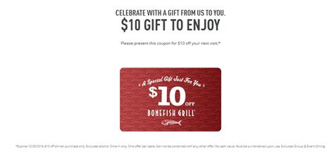 Bonefish Grill E Gift Card - cassandra m s place bonefish grill 10 gift card from bonefish grill for you and yours