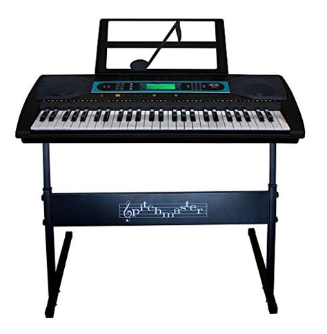Keyboard Piano Techno pitchmaster 54 key black electronic piano keyboard with stand electric piano package with