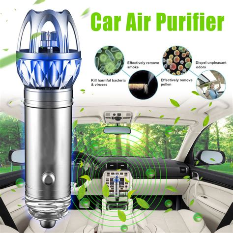 2017 mini auto car fresh air ionic purifier oxygen bar ozone ionizer cleaner new ebay