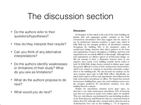 writing a discussion section of a scientific research