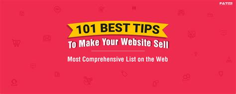 101 actionable best tips how to make your website sell