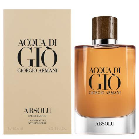 Armani Acqua Di Gio For acqua di gio absolu giorgio armani cologne a new