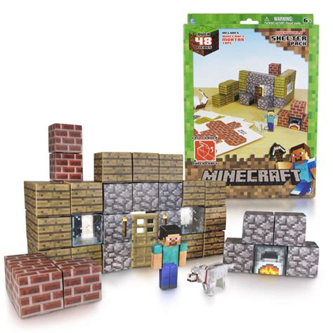 Minecraft Papercraft Sets - minecraft papercraft shelter set