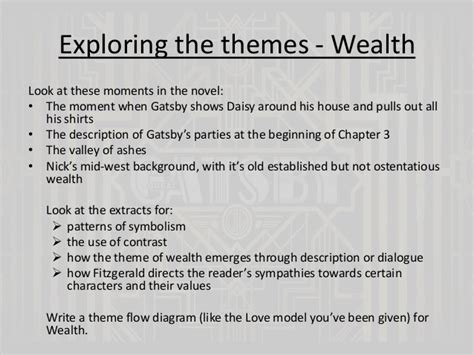 the great gatsby wealth theme quotes the great gatsby chapters 4 and 5