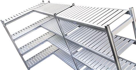 scaffali metallici prezzi scaffalature piani in alluminio alimentari celle frigorifero