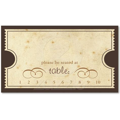 retro ticket place card template vintage ticket template www pixshark images