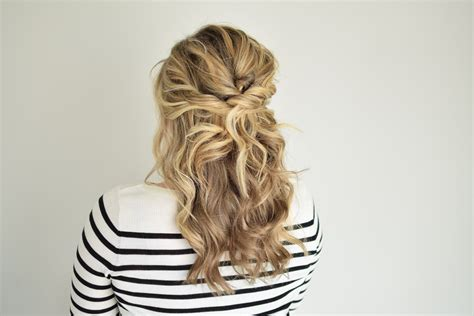 half up half down bun hairstyles youtube the twisted half up youtube