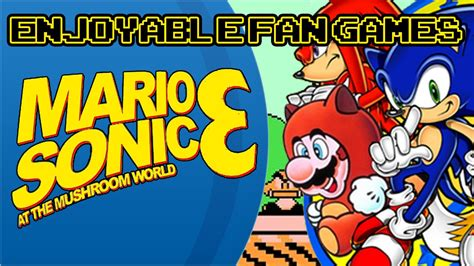 sonic world fan game enjoyable fan games mario sonic at the mushroom world