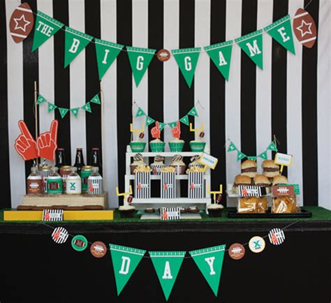 themes football com a spoonful of happy sport themed party