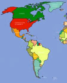 Map Of The Americas by Map Of Americas My Blog