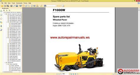 dynapac fw spare parts list  auto repair
