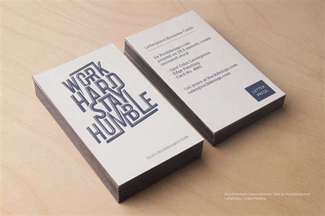 Or Card Smooth Uncoated Business Cards Rockdesign Luxury