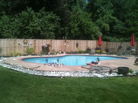landscaping around pool rock borders around pool google search outdoor