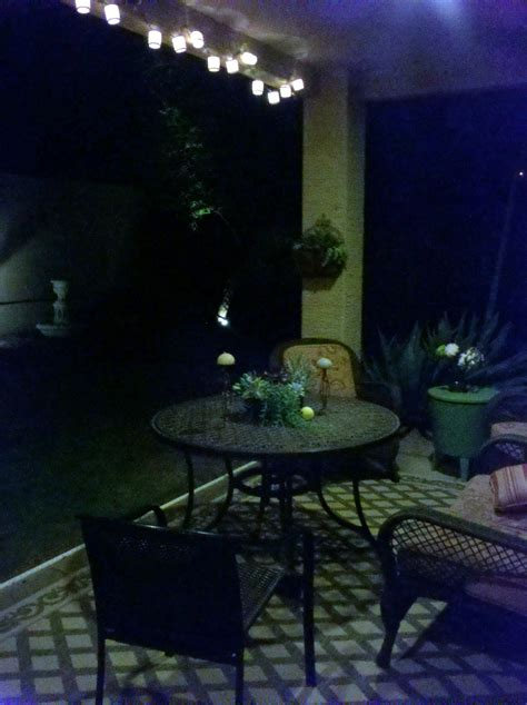 Cool Patio Lights An Easy Pleasing Patio Makeover Managedmoms