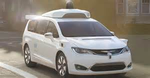 Minivan Chrysler S Waymo Shows Self Driving Chrysler Minivan