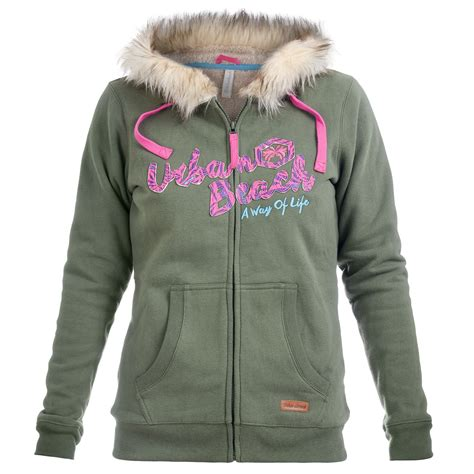 Sweater Surf Urgan 22 womens khaki fur lined zip up hoodie free delivery 163 20