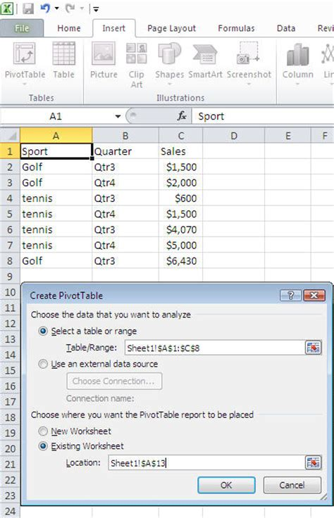 Pivot Table Wizard by Excel Data Analysis With Pivot Tables Charts And Slicers