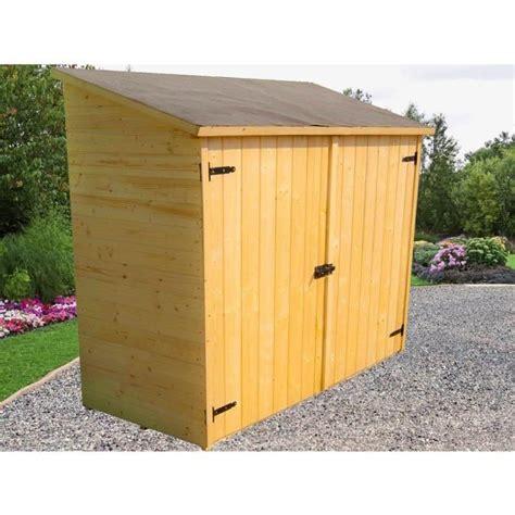 solde abri de jardin bois abri de jardin mural en bois grand volume avec 233 tag 232 re de rangement 175x72x174cm achat