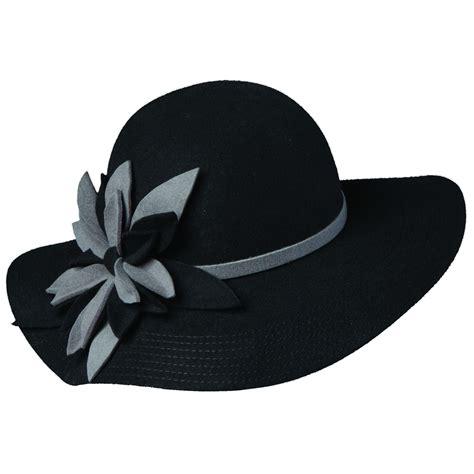 Flower Hat callanan wool felt floppy hat with flower explorer hats
