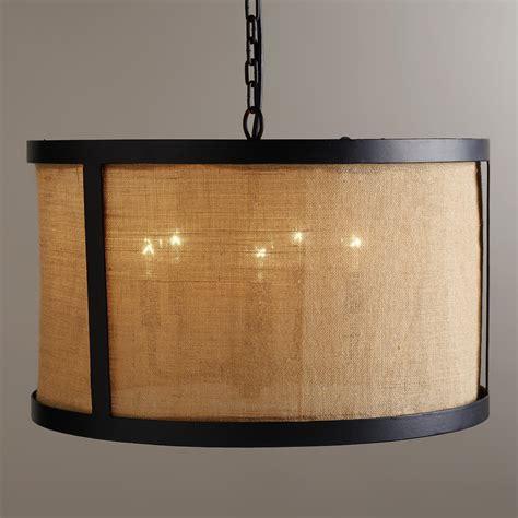 burlap drum chandelier world market