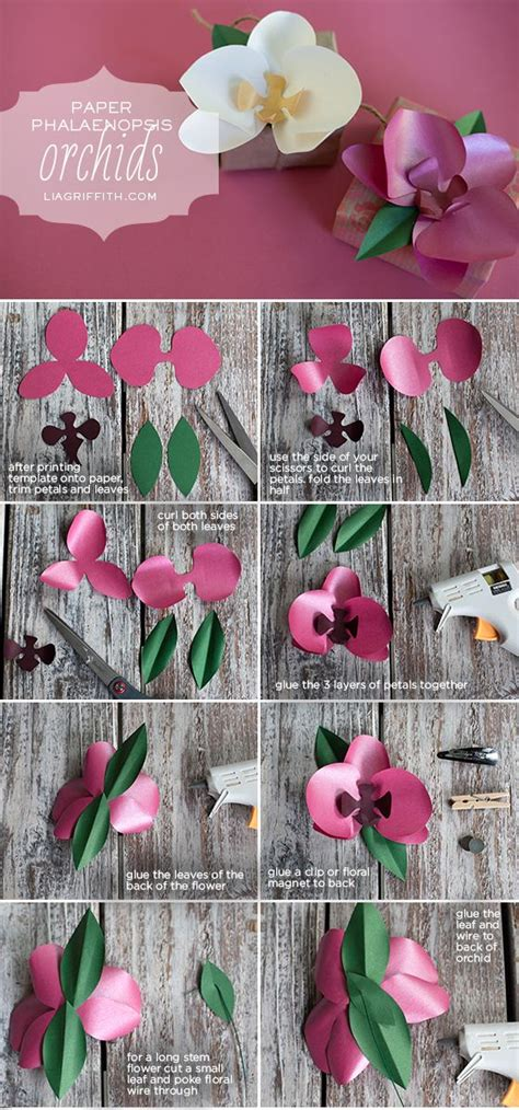 printable paper orchid diy paper orchid