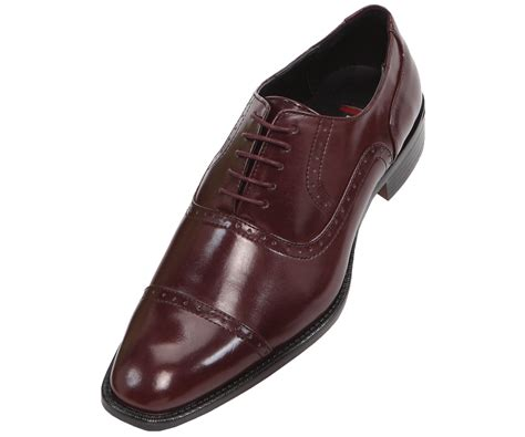 bolano mens burgundy oxford dress shoe style ceri