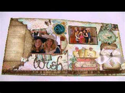 scrapbooking layout youtube my wish 12x24 scrapbooking layouts two pages gabrielle bo
