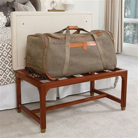 luggage bench global views products folding luggage bench