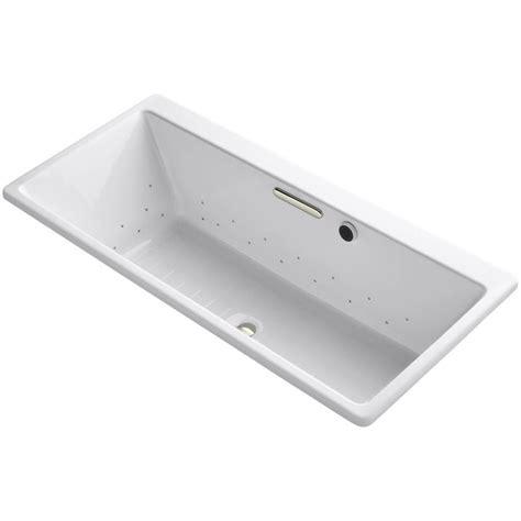 kohler reve 5 5 ft air bath tub in white k 820 gsn 0