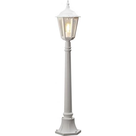 white outdoor post light konstsmide firenze single light outdoor post light in