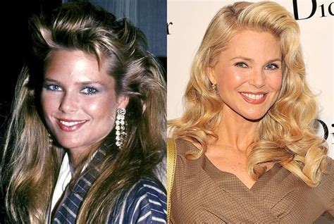 celebs who havent had neck lifts christie brinkley model celebrities aging well red carpet