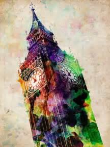 london big ben urban art digital art by michael tompsett